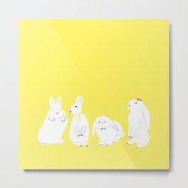 cute bunnies Metal Print