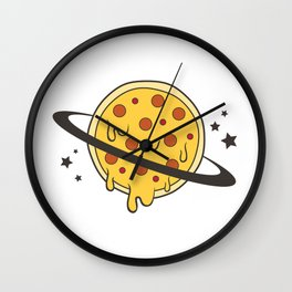 Planet PIZZA Wall Clock