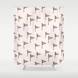 Pizza Pennant Shower Curtain