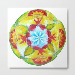 Peace Unity Mandala Metal Print