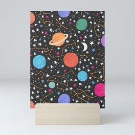 Astrology Pattern Mini Art Print