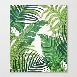 Green tropical leaves II Canvas Print