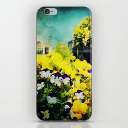 Behind the flowers iPhone Skin