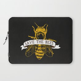 Save The Bees (Dark) Laptop Sleeve