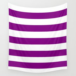Patriarch - solid color - white stripes pattern Wall Tapestry