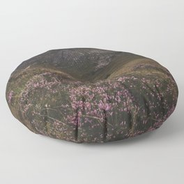 The moorland house - Landscape and Nature Photography Floor Pillow
