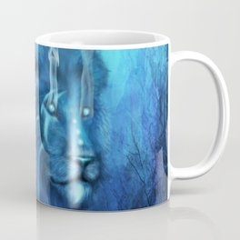 Blue Spirit Lion Coffee Mug
