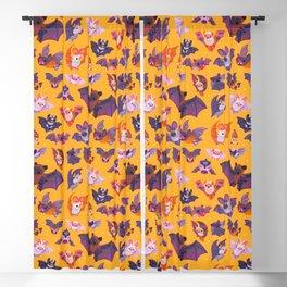 Bat - yellow Blackout Curtain