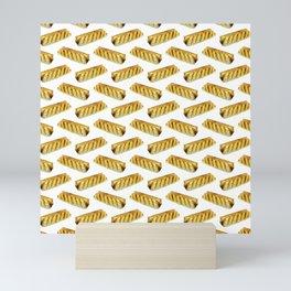 Sausage Roll Polka Dot Pattern Mini Art Print