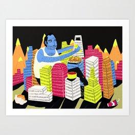 City of Nachos Art Print