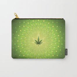 Cannabis. power plant. Sacred geometric mandala Carry-All Pouch