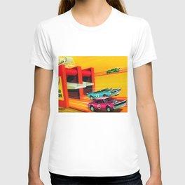 Vintage Hot Wheels Redline Dual-Lane Rod Runner Racing Poster Trade Print T-shirt