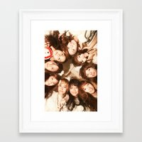 snsd Framed Art Prints featuring Together Forever by cuteunni