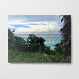 Tulum Waterscape Metal Print