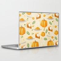 pumpkin Laptop & iPad Skins featuring pumpkin by Ceren Aksu Dikenci