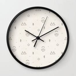Death Valley in Ivory and Clay Wall Clock