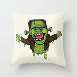 Frankenslimer Throw Pillow