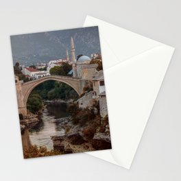 An Old bridge in Mostar Stationery Cards