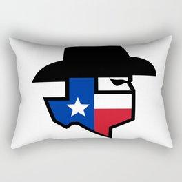 Bandit Texas Flag Icon Rectangular Pillow