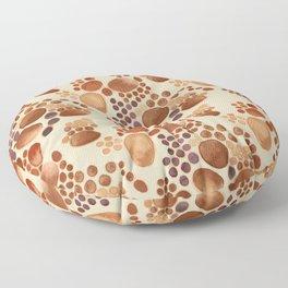 Pebbles in Browns on Tan Pattern Floor Pillow
