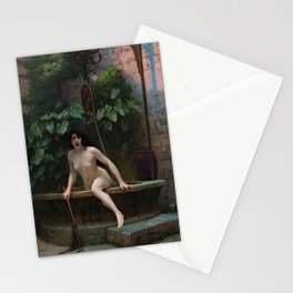 Truth Coming Out of Her Well Painting by Jean-Léon Gérôme Stationery Cards