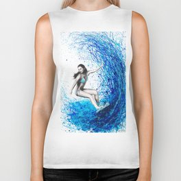 Thoughts and Waves Biker Tank