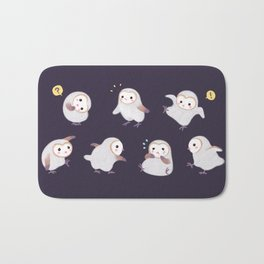 Baby Barn Owls - dark Bath Mat
