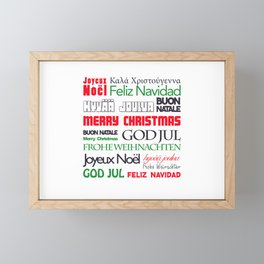 merry christmas in different languages II Framed Mini Art Print