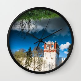 the reflection of the walls of the monastery Wall Clock