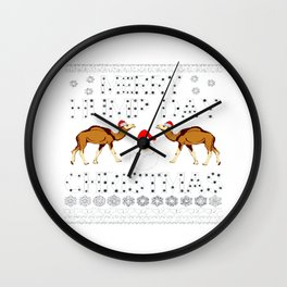merry hump day ugly Wall Clock