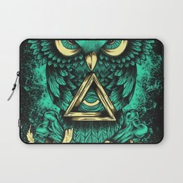 Three eyes owl Laptop Sleeve