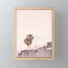 Pink Palms at Sunrise Framed Mini Art Print