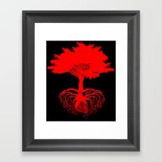Heart Tree - Red Framed Art Print