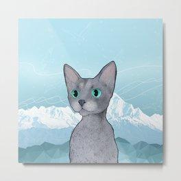 Klaus the Cat Metal Print