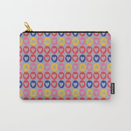 Hearts stripes grey Carry-All Pouch