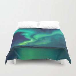 Aurora Borealis Lights Up the Sky (Northern Lights) Duvet Cover