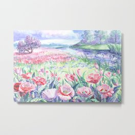 A field of summer flowers Metal Print