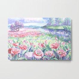 A field of summer flowers Metal Print