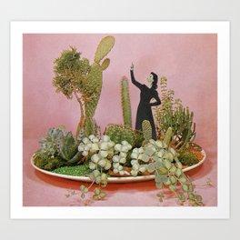 The Wonders of Cactus Island Art Print