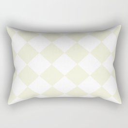 Large Diamonds - White and Beige Rectangular Pillow