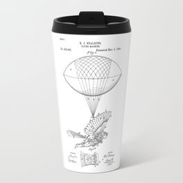 patent art Spalding Flying Machine 1889 Travel Mug