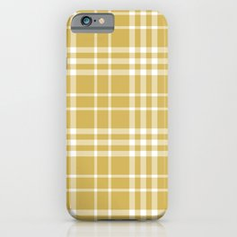 Yellow Ocre Plaid iPhone Case