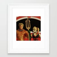aquaman Framed Art Prints featuring Aquaman Goth(ic) by Beastie Toyz