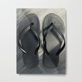noir flip flops Metal Print