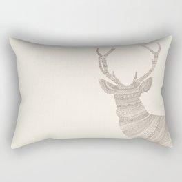 Stag / Deer (On Beige) Rectangular Pillow