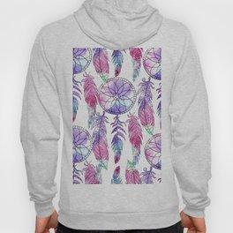 Bohemian violet lavender pink watercolor dreamcatcher Hoody
