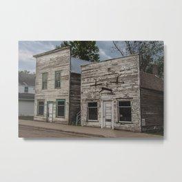 Main Street False Fronts, Kathryn, North Dakota Metal Print