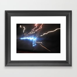 Light Strike Framed Art Print