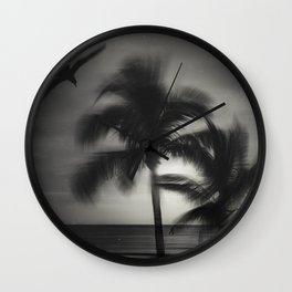 wild palmS Wall Clock