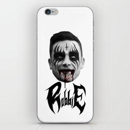 Black Metal Robbie iPhone Skin